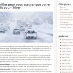 Blogue – préparer sa voiture pour l'hiver