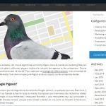 Billet de blogue sur Google Pigeon