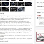 Description de la Honda Accord 2015 (anglais)